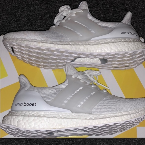 920efc6c21c1a Adidas Ultra Boosts 3.0 J  Triple White